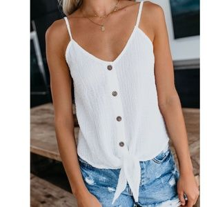 S. the Widow Tops - IRMA Tie Front Button Down Tank